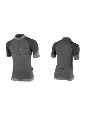 Белье: термофутболка мужская X-BIONIC FENNEC Shirt Short Sleeves Zip Up с коротким рукавом для велоспорта