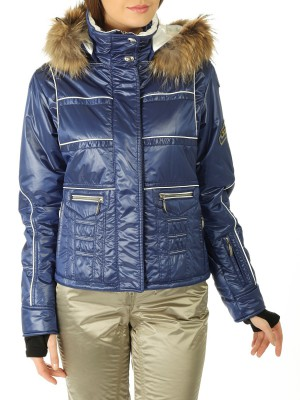 Куртка женcкая CASSIEP с мехом на капюшоне EMMEGI