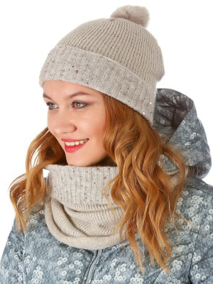Шапка женская вязаная Wool cap DEHA