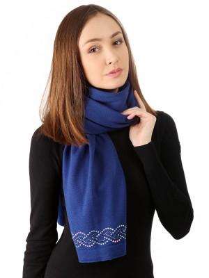 Шарф женский широкий LISA GROBL из мериносовой шерсти