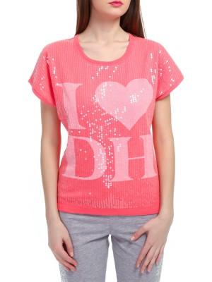Футболка женская хлопковая Swetshirt DEHA с пайетками