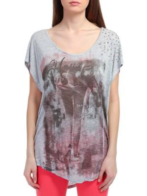 Футболка-туника женская T-shirt DEHA с принтом