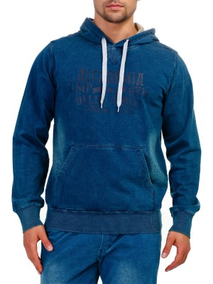 Толстовка мужская FIX HOOD SWEAT FELPA DENIM CAMPAGNOLO