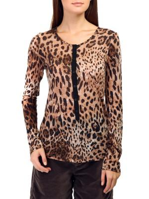 Блузка женская шерстяная DEHA с леопардовым принтом