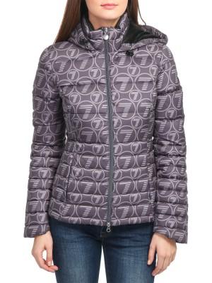 Куртка женская стеганая EMPORIO ARMANI с all-over принтом