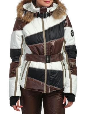 Куртка горнолыжная женская с мехом SUNP EMMEGI