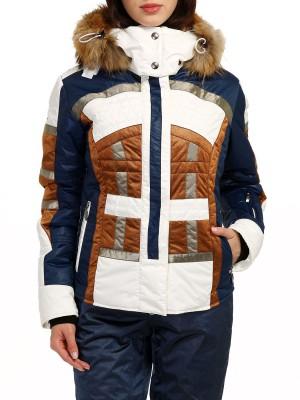 Куртка горнолыжная женская с мехом ASHLEYP EMMEGI
