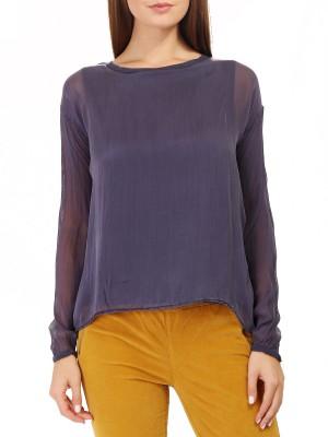 Блуза женская шелковая Double long T-shirt DEHA