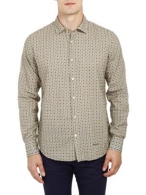 Рубашка мужская из хлопка и льна HENRY COTTONS