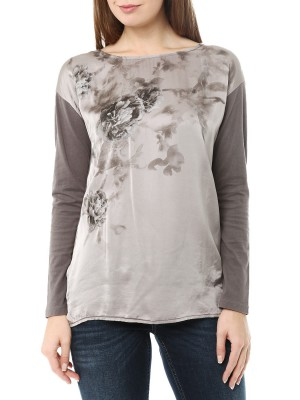 Футболка женская Satin Long Sleeve T-shirt DEHA