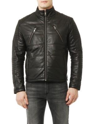 Куртка кожаная утепленная BIKKEMBERGS