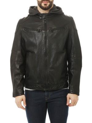 Куртка мужская из кожи Biker Jkt Regular Fit TRUSSARDI JEANS