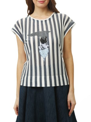 Футболка женская T-shirt C-ricamo TRUSSARDI JEANS