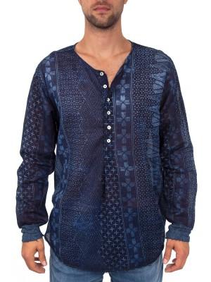 Лонгслив мужской Collarless Shirt WRIGHT'S