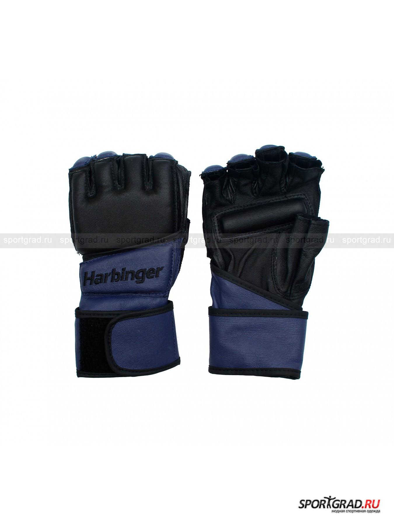 Перчатки снарядные для ударной работы по мешку Wrist-Wrap Bag Gloves HARBINGER от Спортград