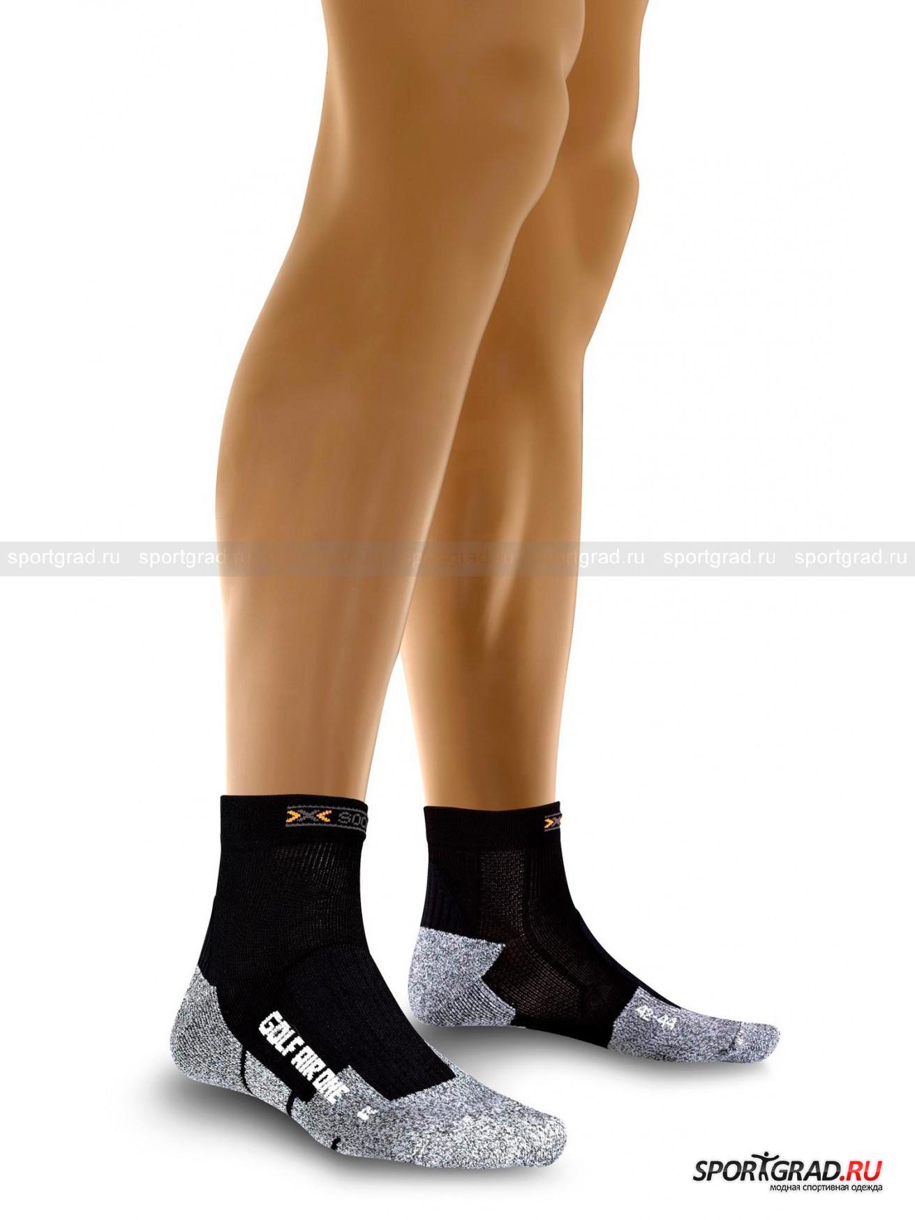 Термоноски унис  гольф Golf Air one X-SOCKSНоски<br>Высокотехнологичные носки, защищают от раздражения кожу, снижают риск перегрева ноги, предотвращают трения и натирание. Система вентиляции поддерживает комфортную температуру стопы, а также стопа анатомической формы защитит и поддержит Вашу ногу даже на твердой подошве. Теморегулирующие волокна способствуют отводу влаги от кожи. Обеспечивают комфортом, теплом и сухостью ноги в течении длительного времени тренировок.<br>*Данная модель предназначена для игры в гольф.<br><br>Возраст: Взрослый<br>Тип: Носки<br>Рекомендации по уходу: Дел.стирка 40Гр, Б/отбеливат. Запрещено:гладить, Химчистка, Сушка В Ст/маш<br>Состав: 68% Нейлон 15% Хлопок 11% Полипр 6% Эласт