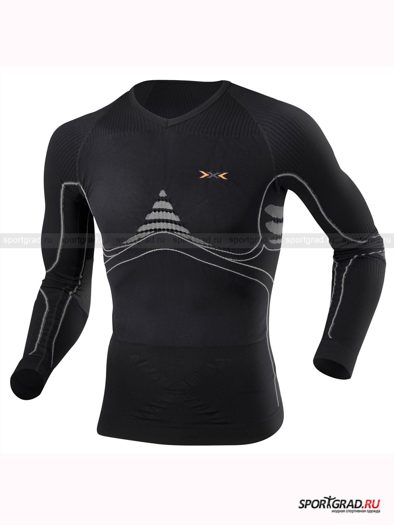 Белье: термофутболка мужская T-Shirt Long  Extra Warm  X-BIO с длинным рукавом для занятий спортом от Спортград