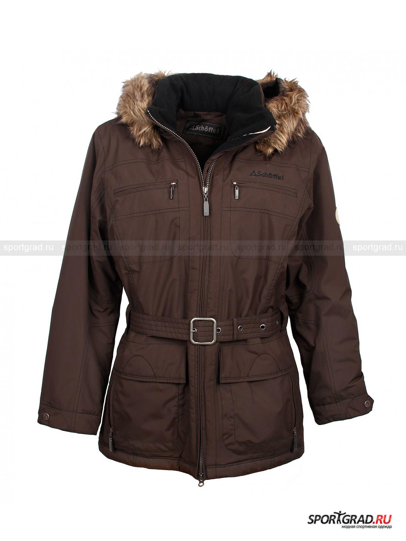 Куртка женская для города и туризма Century SCHOFFELКуртки<br>Практичная и симпатичная куртка Century от известного бренда Schoffel идеально подойдет для походов или длительных прогулок в холодное время года. Фирменная мембранная ткань Venturi надежно защитит обладательницу куртки от ветра, снега и дождя, но при этом будет отлично пропускать воздух, сохраняя тепло. Модель имеет пояс на талии – даже в экстремальных условиях не помешает подчеркнуть ваши прекрасные формы.<br><br>Особенности:<br>- мягкая флисовая изнанка;<br>- петля для подвешивания;<br>- два внутренних кармана на молнии;<br>- утяжки изнутри по низу куртки;<br>- фронтальная молния с двумя бегунками;<br>- капюшон, пристегивающийся с помощью молнии, с регулировкой степени покрытия;<br>- отстегивающаяся меховая опушка;<br>- диаметр манжет регулируется кнопками;<br>- нашивка с фирменным логотипом марки на плече;<br>- пояс на талии;<br>- два кармана на молнии на груди;<br>- внизу большие двойные карманы, закрывающиеся кнопкой и молнией.<br><br>Пол: Женский<br>Возраст: Взрослый<br>Тип: Куртки<br>Рекомендации по уходу: стирка в теплой воде до 30 С; не отбеливать; гладить при низкой температуре (до 110 С); не подвергать химической чистке; сушить при низкой температуре<br>Состав: 100% полиэстер