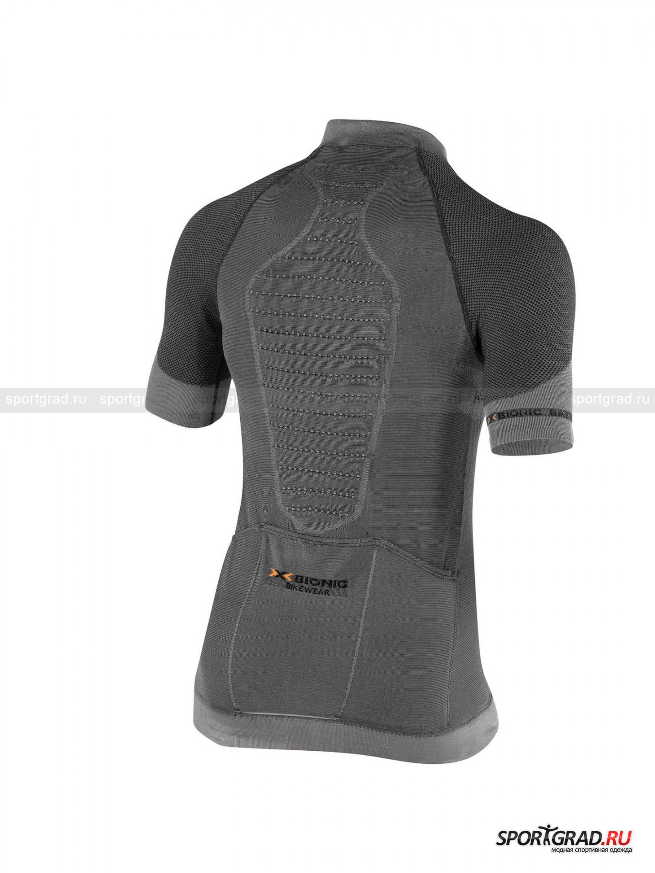 Белье: термофутболка мужская X-BIONIC FENNEC Shirt Short Sleeves Zip Up с коротким рукавом для велоспорта от Спортград