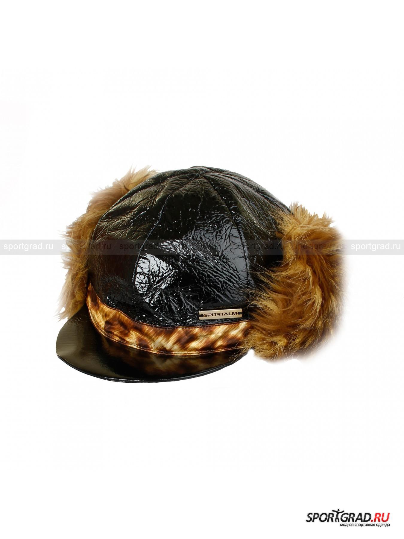 Женская шапка SPORTALM FlorenzГоловные Уборы<br>Интересная шапка Florenz Sportalm – выбор неординарных натур, любящих быть в центре внимания. Шапка выполнена из оригинального материала, имитирующего блестящую темно-коричневую кожу, изнутри подбита толстым флисом. Козырек защищает от снега  и солнца, уши дополнительно утеплены меховой подкладкой, которую можно вывернуть и закрепить с помощью кнопок по бокам. По периметру утяжка, регулирующая посадку по желанию владельца.<br><br>•Блестящее внешнее покрытие<br>•Плотный козырек<br>•Фирменный логотип компании<br><br>Пол: Женский<br>Возраст: Взрослый<br>Тип: Головные Уборы<br>Рекомендации по уходу: стирка в теплой воде до 30 С; не отбеливать; гладить слегка нагретым утюгом (температура до 120 C); только сухая чистка; можно сушить в машине при низкой температуре<br>Состав: 55% полиэстер, 45% полиуретан