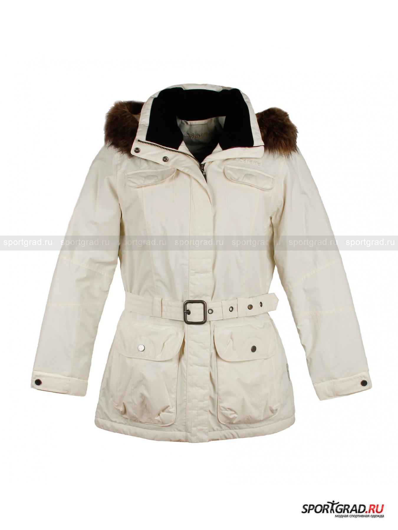 Куртка женская Merle SCHOFFELКуртки<br>Тёплая женская куртка Schoffel с искусственным мехом и поясом. Изнутри она отделана мягким флисом, что делает её особенно-приятной для кожи, а также она снабжена фирменной мембраной Venturi, благодаря чему в ней Вам всегда будет тепло и сухо. <br><br>Модель имеет:<br>- 7 карманов, включая внутренний потайной на молнии;<br>- регулируемый пояс с пряжкой;<br>- регулируемые манжеты;<br>- съёмный капюшон  с отстёгивающимся мехом;<br>- дышащую непродуваемую мембрану с водонепроницаемостью: 10000 мм/в.ст.;<br>- рукава анатомического кроя.<br><br>Пол: Женский<br>Возраст: Взрослый<br>Тип: Куртки<br>Рекомендации по уходу: Ручная стирка при 30 градусах, щадящий ручной отжим, гладить при температуре до 120 градусов, вывернув наизнанку.<br>Состав: 100% полиэстер