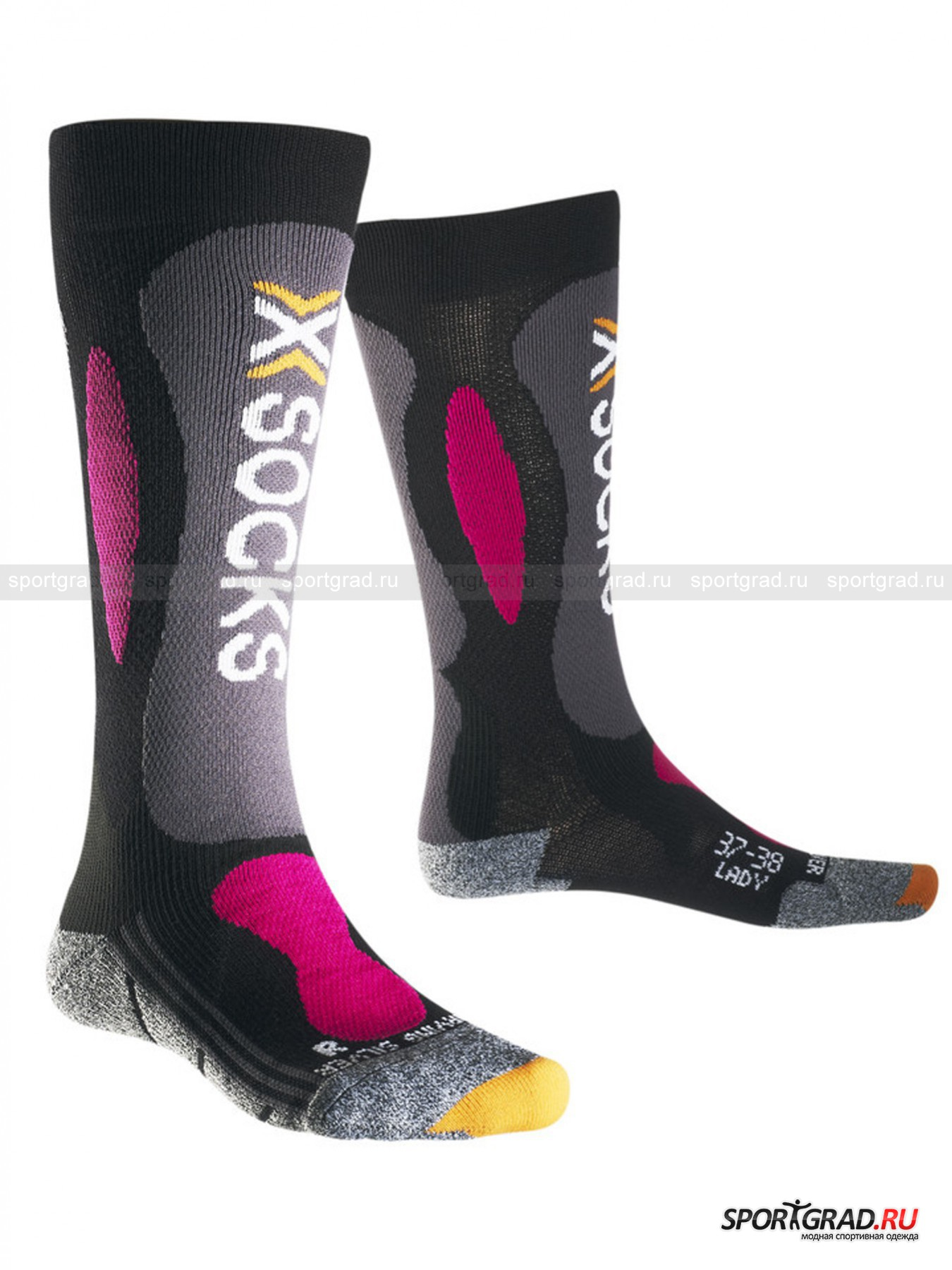 Женские носки X-SOCKS SKI CARVING SILVER