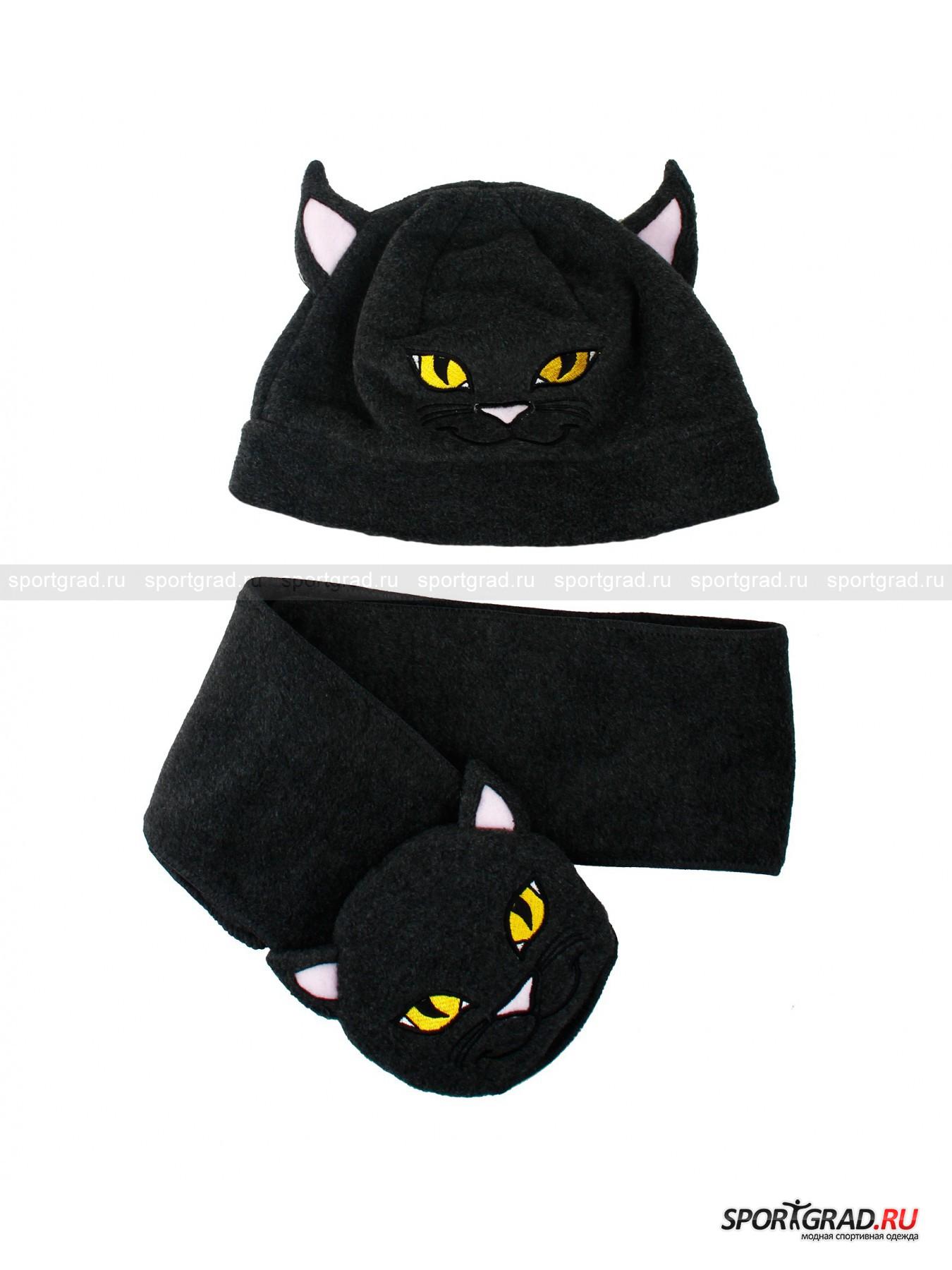Комплект для детей шапка+шарф в прозрачном тубусе Kit Animal INVICTA от Спортград