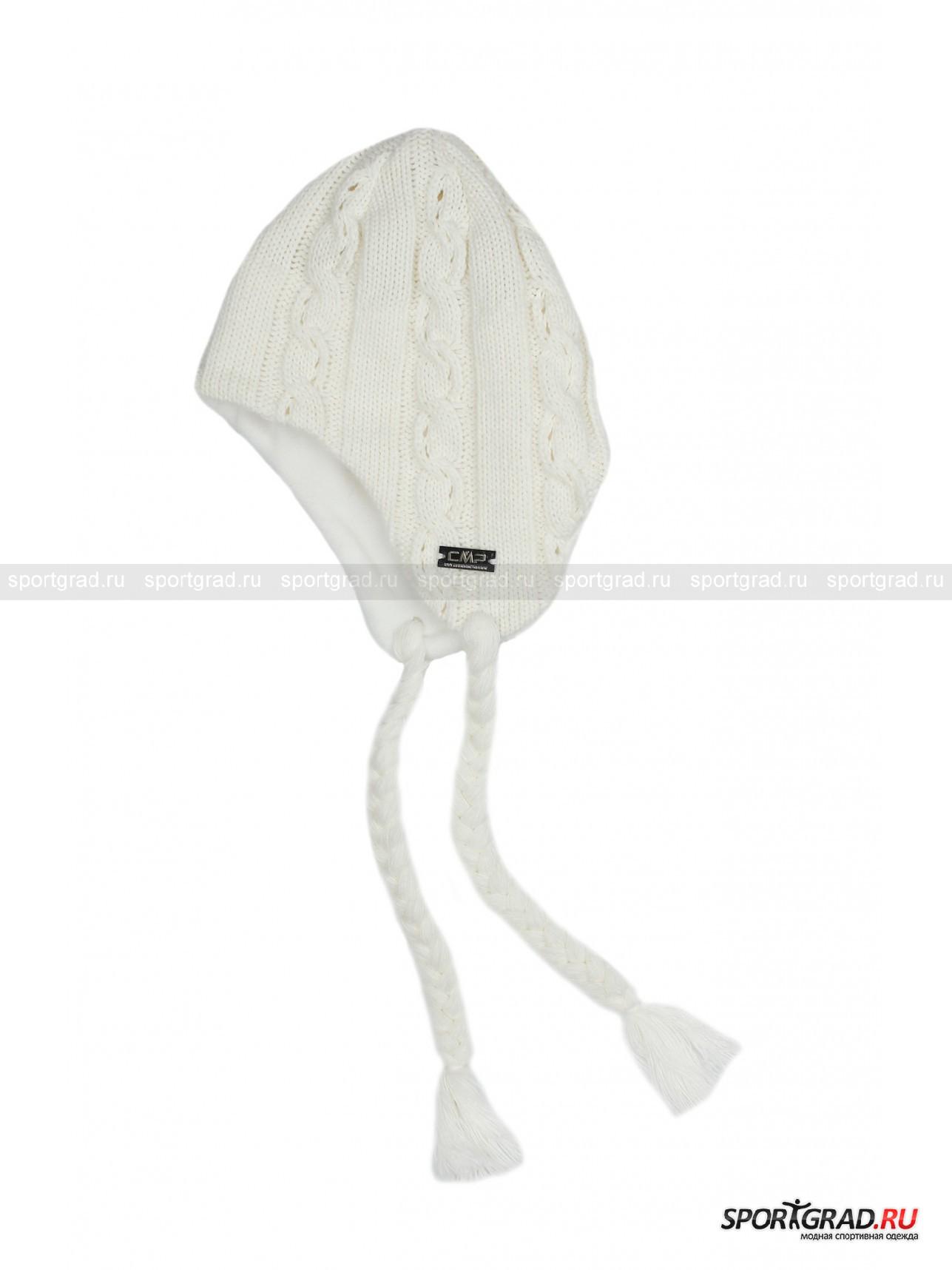 Шапка детская CAMPAGNOLOГоловные Уборы<br>Модная детская  вязаная шапка-ушанка CAMPAGNOLO – замечательное дополнение практически к любой верхней одежде, будь то пальто, курточка или пуховик. Изнутри по окружности модель продублирована  мягким и теплым флисом в тон, она хорошо закрывает уши, поэтому в этой шапке Вашему ребенку не будут страшны холода и морозы. Шапка не выглядит скучно благодаря узору из чередующихся вертикальных кос, а декоративные косички, пришитые к ушкам, дарят настроение легкости и непосредственности.<br>Длина окружности 45 см.<br><br>Возраст: Детский<br>Тип: Головные Уборы<br>Рекомендации по уходу: Рекомендуется деликатная стирка в холодной воде, глажка при низкой температуре. Сушить на горизонтальной поверхности. Нельзя отбеливать, подвергать химчистке, отжимать и сушить в стиральной машине или в электросушке.<br>Состав: Верх - 50% акрил, 25% полиамид, 25% шерсть, подкладка - 100% полиэстер