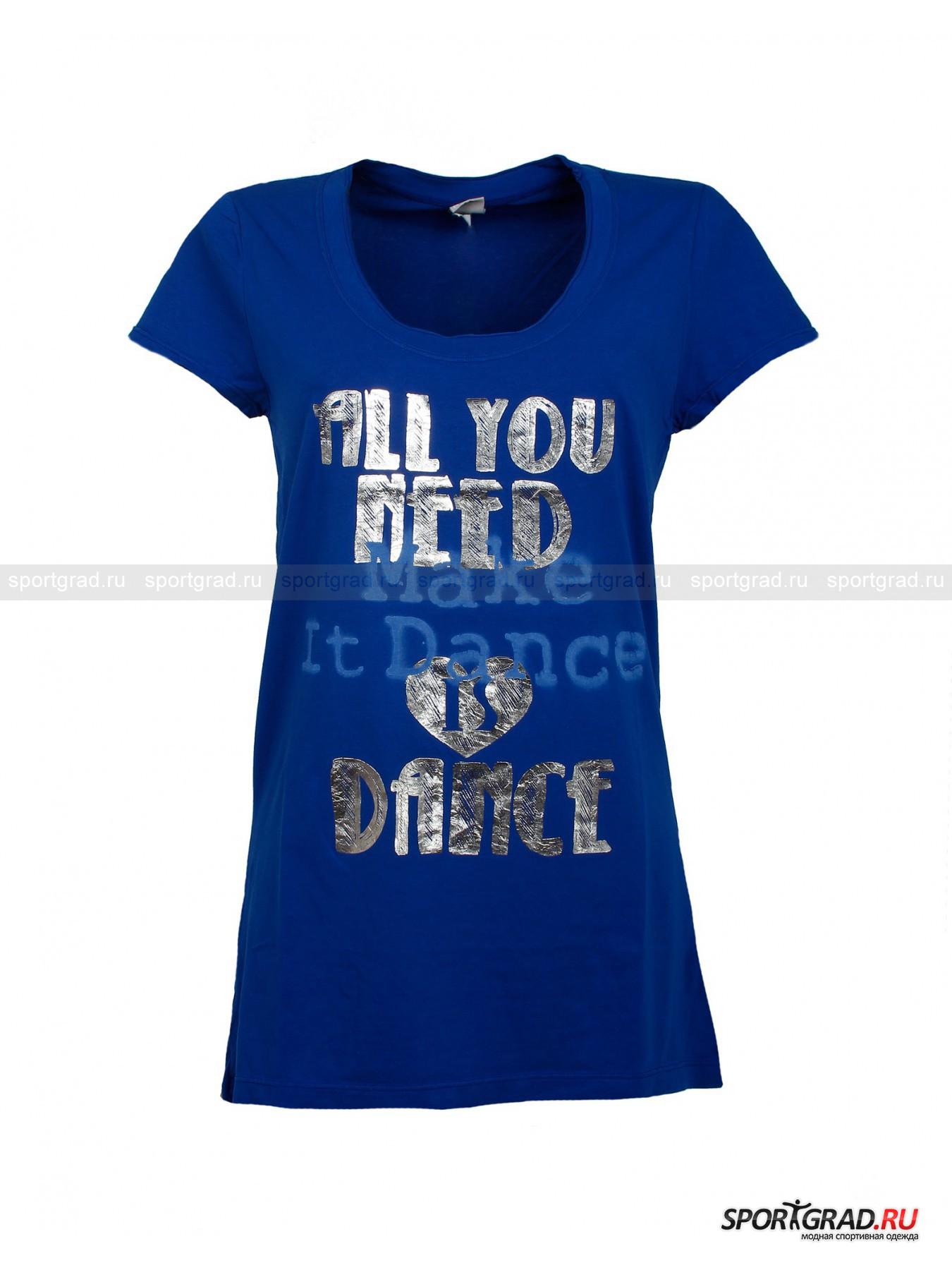 Футболка женская удлиненная Long T-shirt DEHA от Спортград