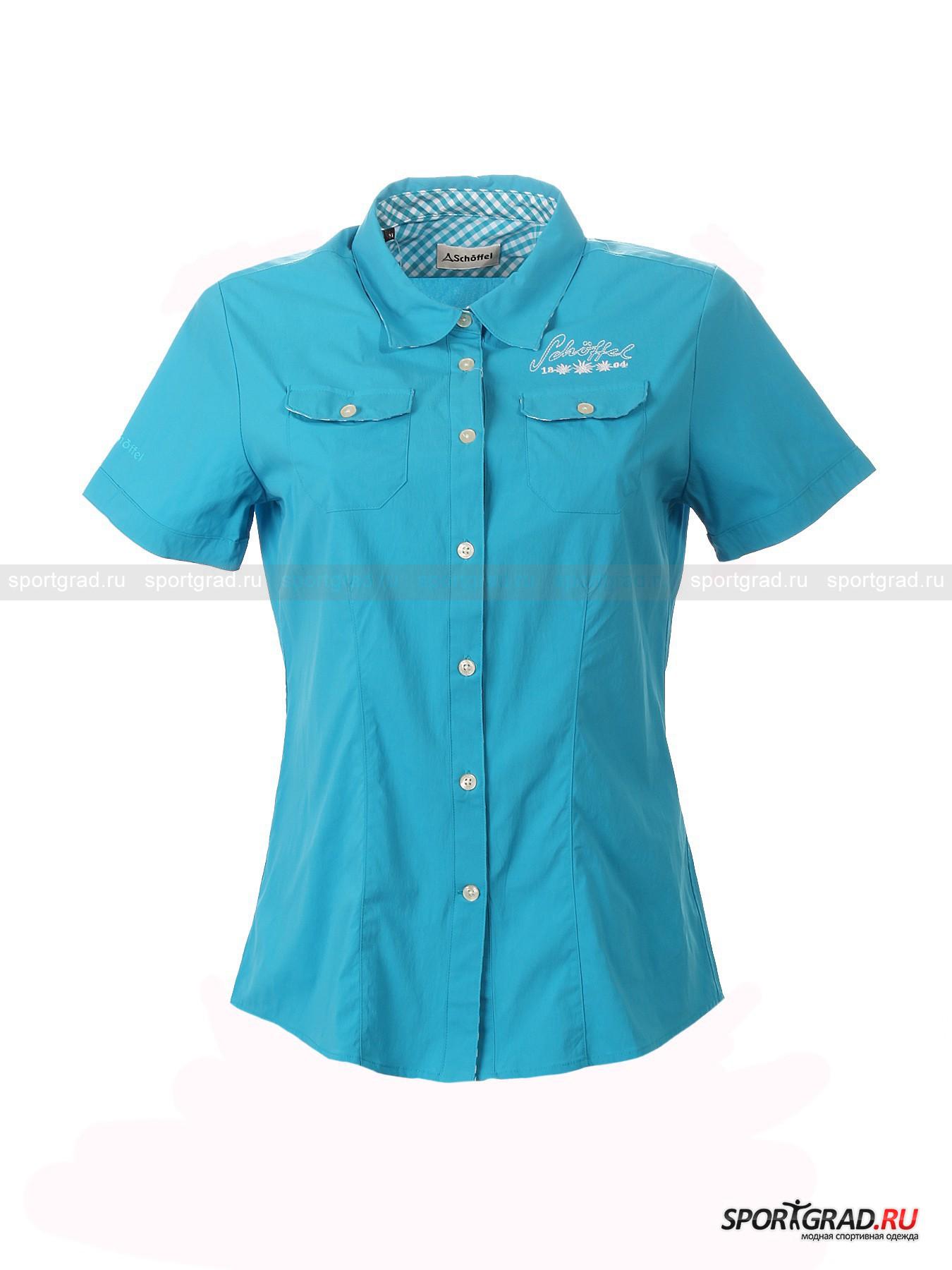 Рубашка женская с коротким рукавом для города и туризма Ida SCHOFFEL от Спортград
