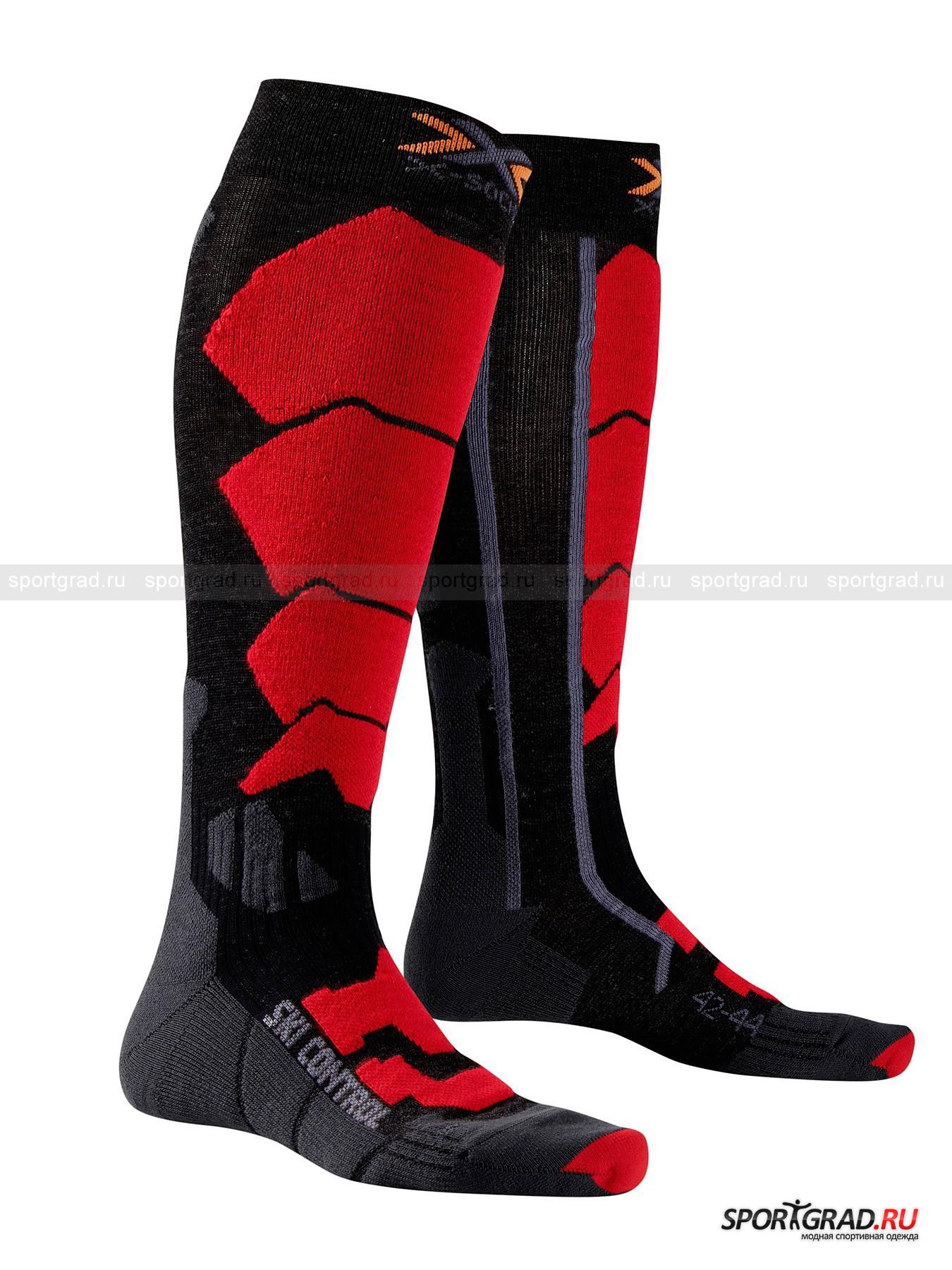 Носки унисекс SKI CONTROL X-SOCKSНоски<br>Носки унисекс SKI CONTROL X-SOCKS – предмет первой необходимости для тех, кто серьезно увлекается зимними видами спорта и просто любит активный отдых на открытом воздухе. Воздушные каналы, зоны амортизации, специальные набивки для защиты проблемных зон способствуют созданию оптимального микроклимата в обуви даже при интенсивной нагрузке. По воздуховыводящему каналу AirConditioning Channel® с каждым шагом выталкивается влажный и перегретый воздух. Саморегулирующаяся манжета подстраивается под голень любой полноты, не сжимая и не скатываясь. Волокно Skin NODOR обладает антибактериальным эффектом, что значительно уменьшает рост бактерий, гарантируя Вам приятную свежесть и сухость в течение всего дня.<br><br>Возраст: Взрослый<br>Тип: Носки<br>Состав: 72% акрил, 10% мериносовая шерсть, 9% полиэстер, 8% нейлон, 1% эластан.