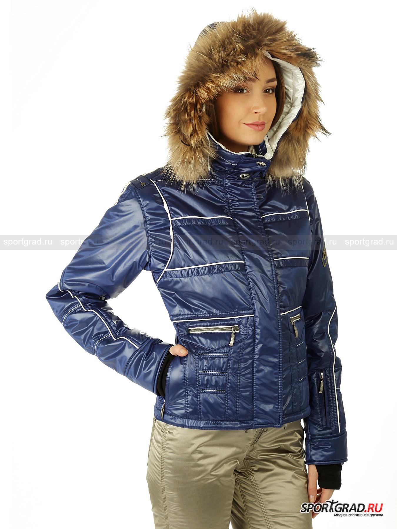 Куртка женcкая CASSIEP с мехом на капюшоне EMMEGI от Спортград