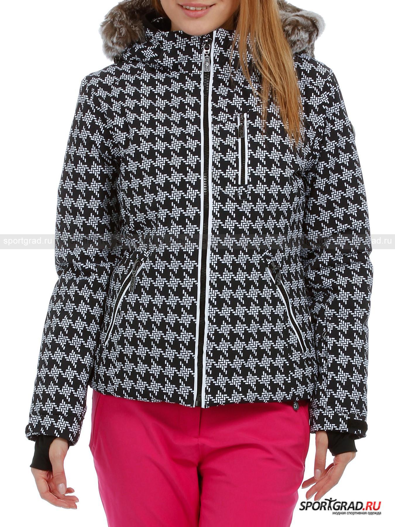 Куртка женская  LADY ZIP HOOD JACKET CAMPAGNOLOПуховики<br>Куртка женская LADY ZIP HOOD JACKET CAMPAGNOLO – идеальный крой, современные материалы, первоклассный дизайн в истинно спортивном стиле – воплощенная мечта современной модницы, умеющей выглядеть шикарно даже на заснеженном склоне с лыжными палками в руках или  сноубордом.<br>Куртка создана при помощи изоляционной технологии STRETCH PERFORMANCE, обладающей прекрасными воздухопроницаемыми свойствами, способностью препятствовать проникновению ветра и осадков  (влагоудержание 8000 мм вод. столба)  и повышенной износостойкостью, а также не требующей специального ухода. Эта технология поможет вам с комфортом провести время на свежем воздухе, придаваясь любимому виду активного отдыха.<br>Модель имеет:<br>- воротник-стойку с теплой внутренней поверхностью (специальная вставка),<br>- пристегивающийся на молнию и липучки капюшон со съемной меховой подкладкой, кулиской по основному краю и сзади (для коррекции глубины),<br>- втачные рукава с узкими манжетами и липучками, регулирующими объем вокруг запястьев,<br>- основную застежку с узкой защитной планкой со стороны подкладки,<br>- мягкую вставку на спинке внутри,<br>- снежную юбку с эластичной вставкой сзади, резинкой по нижнему краю и клепками спереди,<br>- вертикальные рельефы, обеспечивающие формирование женственного силуэта,<br>- кулиску по нижнему краю с подкладочной стороны,<br>- карманы:<br>а) из сетчатого материала с внутренней стороны, по сторонам от основной застежки,<br>б) один прорезной карман на молнии вдоль основного замка,<br>в) два прорезных боковых кармана на застежках,<br>г) прорезной карман на застежке, вход в который располагается под кокеткой,<br>д) небольшой карман для ключей на левом рукаве,<br>- металлическую фурнитуру с логотипами марки (на бегунках молний).<br><br>Пол: Женский<br>Возраст: Взрослый<br>Тип: Пуховики<br>Состав: Поверхность и подкладка: 85% полиамид, 15% эластан