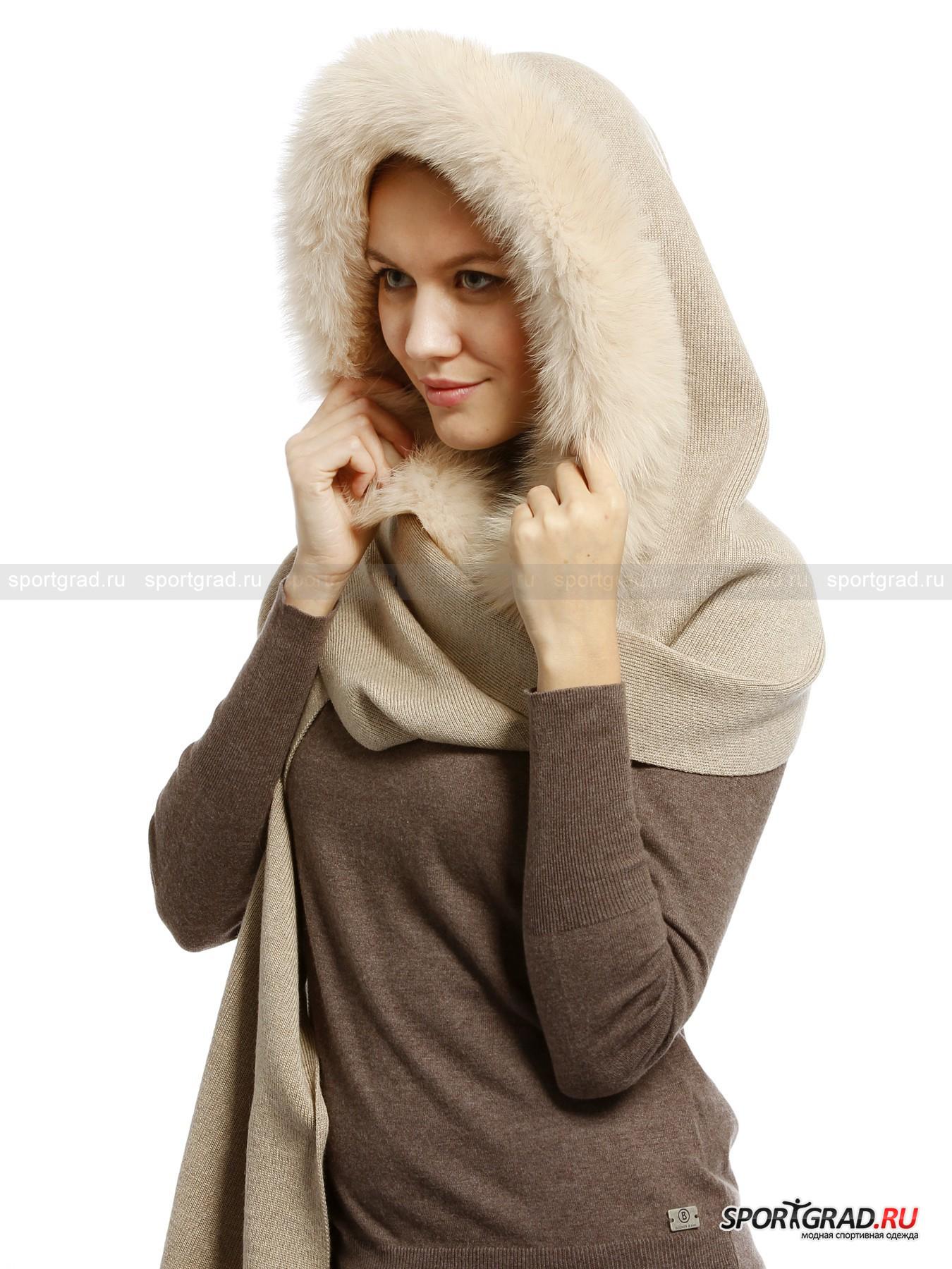 Шарф-капюшон женский шерстяной LISA GROBLШарфы, Кашне<br>Роскошный шарф-капюшон LISA GROBL сделан полностью из натуральной шерсти мериноса и декорирован пушистым мехом. Шапка и шарф в одном – оригинальное и практичное решение. Великолепный аксессуар, который сразу привлечет к своей владелице максимум внимания окружающих, ей же будет в нем тепло и удобно. Преимущество капюшона перед обычной шапкой еще и в том, что он не испортит прическу, даже объемную, что немаловажно для многих женщин.<br><br>Пол: Женский<br>Возраст: Взрослый<br>Тип: Шарфы, Кашне<br>Рекомендации по уходу: толкьо сухая чистка, можно гладить при низкой температуре<br>Состав: 100% шерсть мериноса
