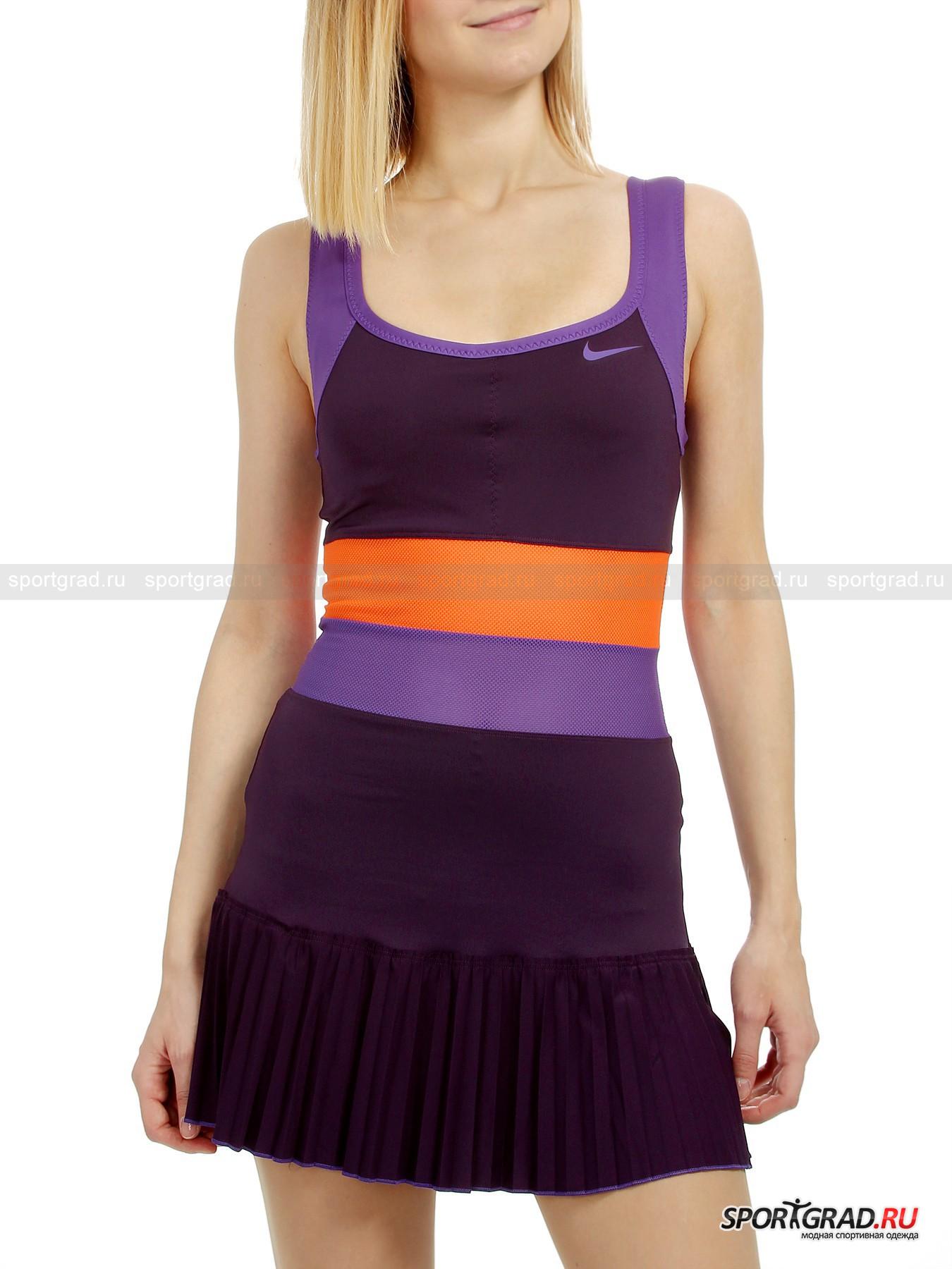 Платье женское PLEATED KNIT DRESS NIKE