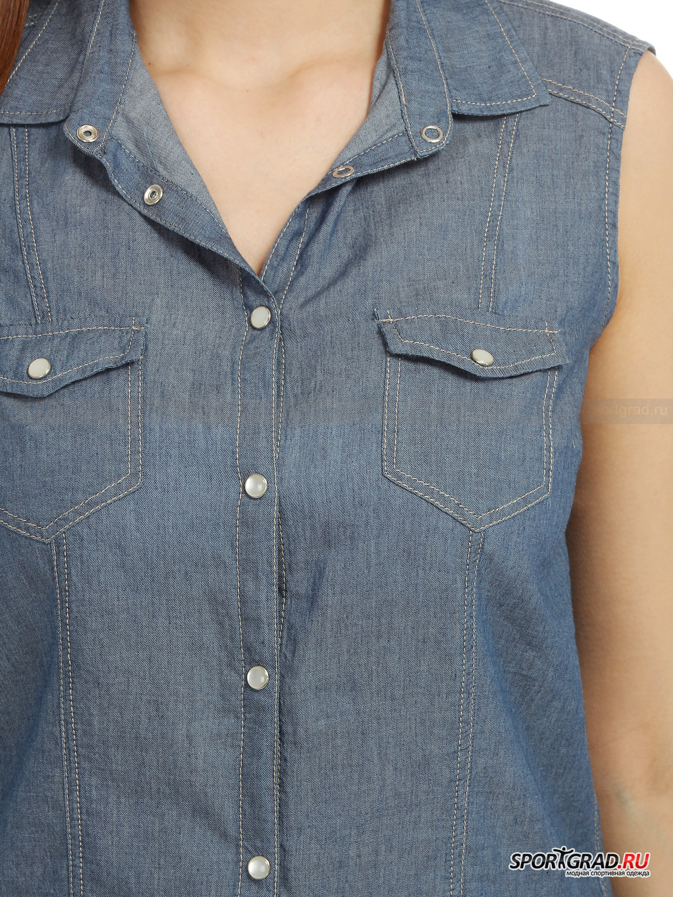Рубашка женская хлопковая без рукавов SANDY BOGNER JEANS от Спортград