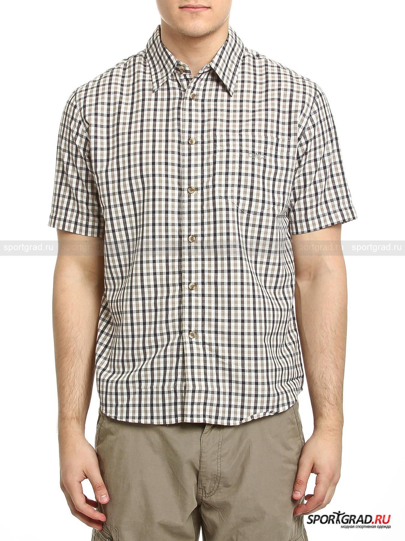 Рубашка мужская  MAN SHIRT CAMPAGNOLOРубашки<br>Мужская рубашка MAN SHIRT CAMPAGNOLO -  модель свободного покроя, которая замечательно подойдет мужчине, живущему активной жизнью. Свободный покрой и мягкая  дышащая ткань, приятная для кожи – качества, необходимые для одежды во время жары. Рубашка сшита из технологичной ткани Dry function, которая способствует быстрому испарению пота с поверхности кожи, обеспечивает защиту от ультрафиолета (UPF 15) и быстро сохнет, при этом она очень легкая. Это идеальный вариант не только для города, но и для походов или вылазок на природу во время жаркого лета. <br>Рубашка имеет отложной воротник и накладной фигурный карман, пришитый в области груди.<br><br>Длина изделия сзади по центру от горловины до низа 76 см, ширина в груди 62 см, длина рукава по нижнему шву 15 см (размер L).<br><br>Пол: Мужской<br>Возраст: Взрослый<br>Тип: Рубашки<br>Рекомендации по уходу: Рекомендуется стирка в теплой воде, отжим и глажка при низкой температуре.  Изделие нельзя отбеливать, подвергать химчистке.<br>Состав: 100% полиэстер