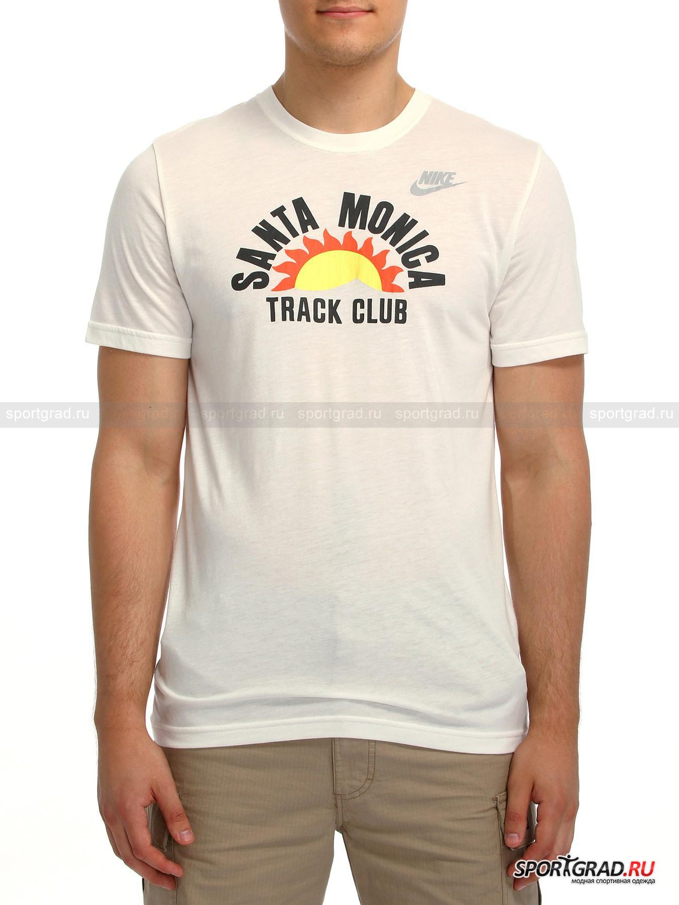Футболка  мужская  RU SANTA MONICA TRACK CLUB TEE NIKE