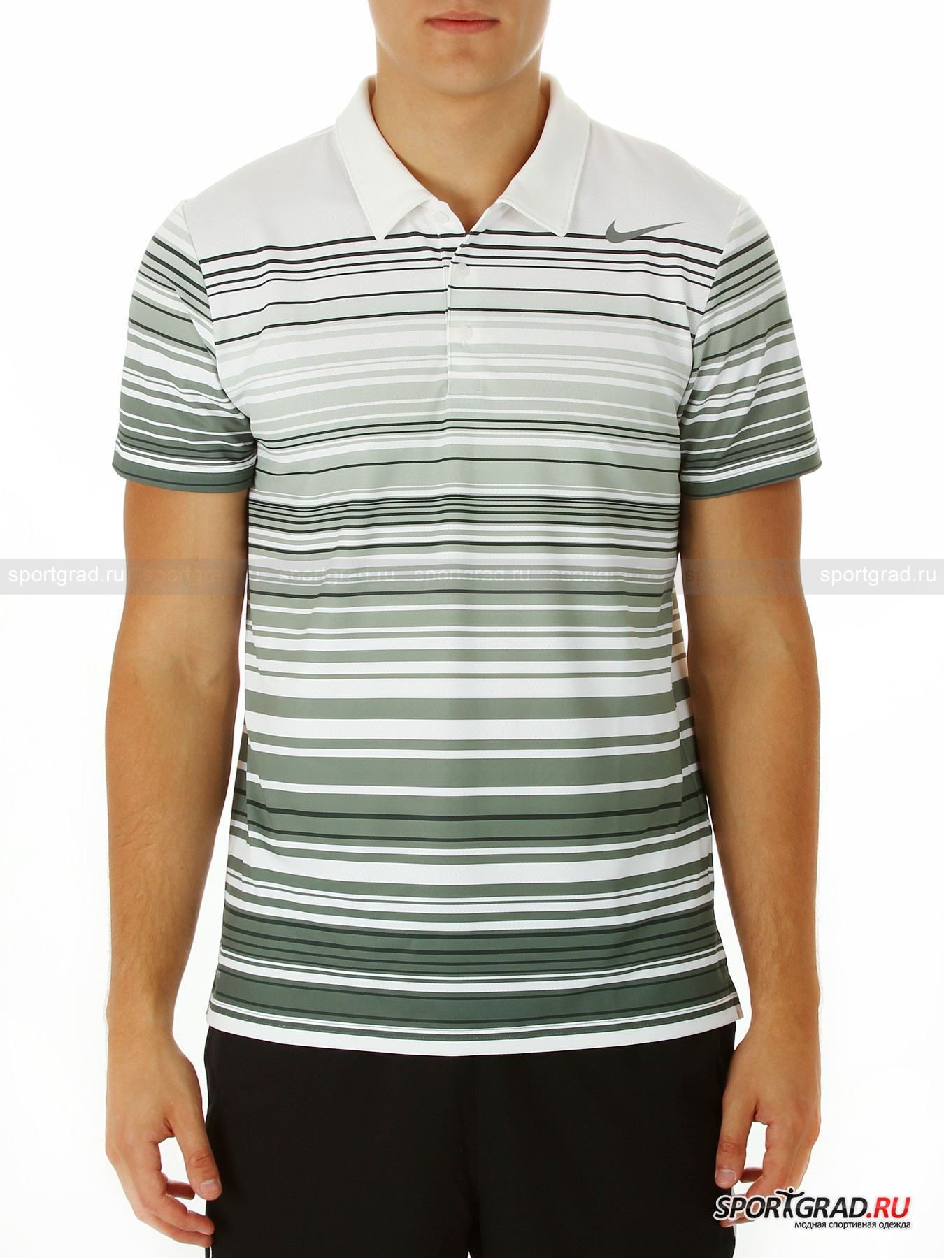 Поло мужское RALLY SPHERE STRIPE POLO NIKE для игры в теннис