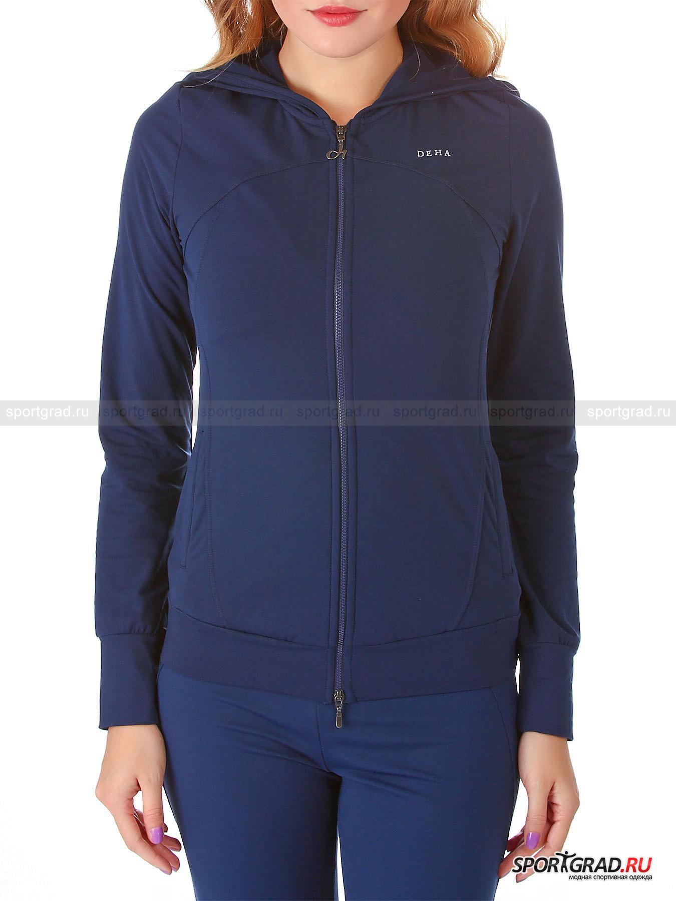 Толстовка женская Swetshirt hooded DEHA на молнии для занятий спортом