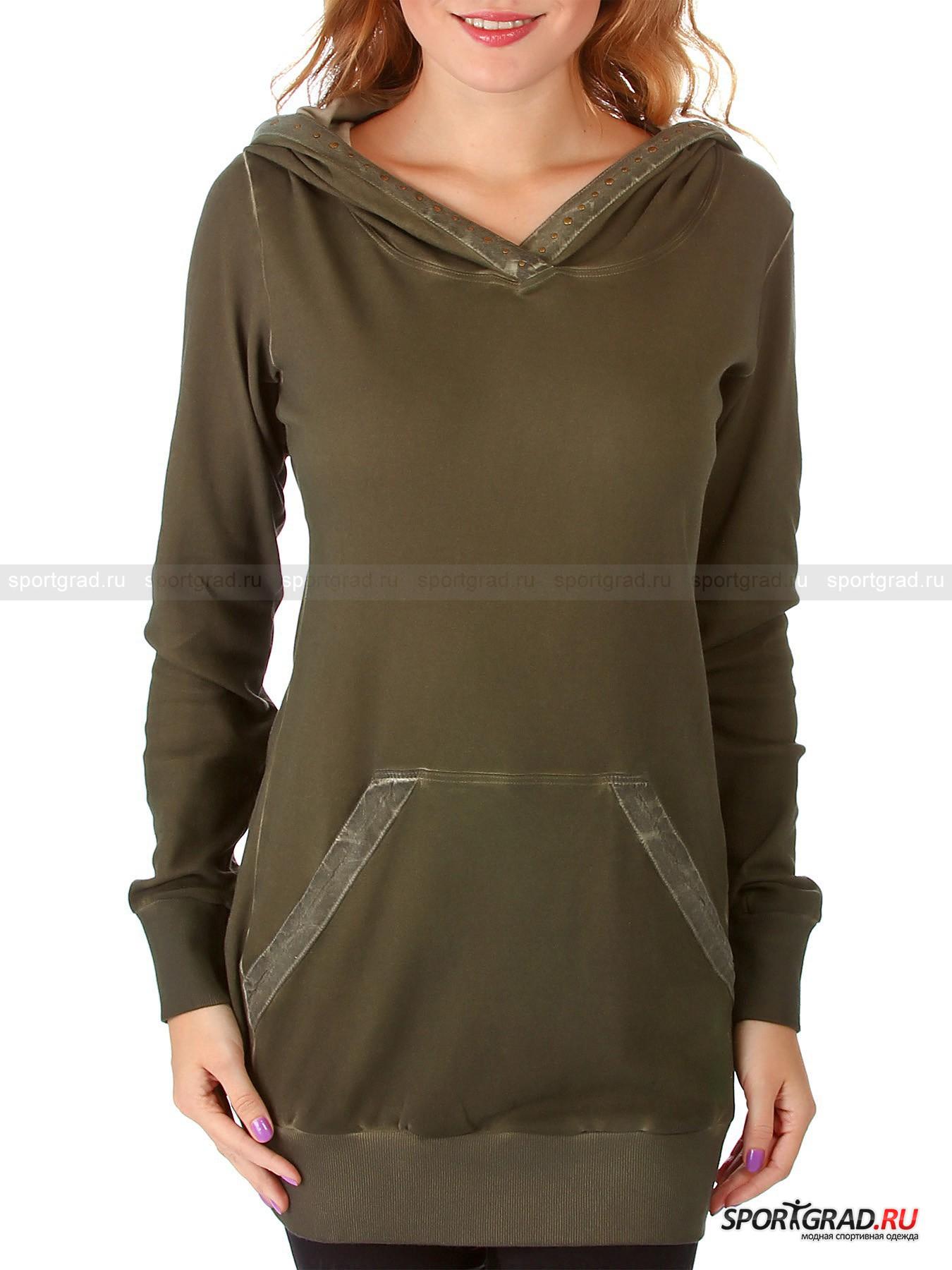 Туника женская хлопковая Swetshirt hooded DEHA