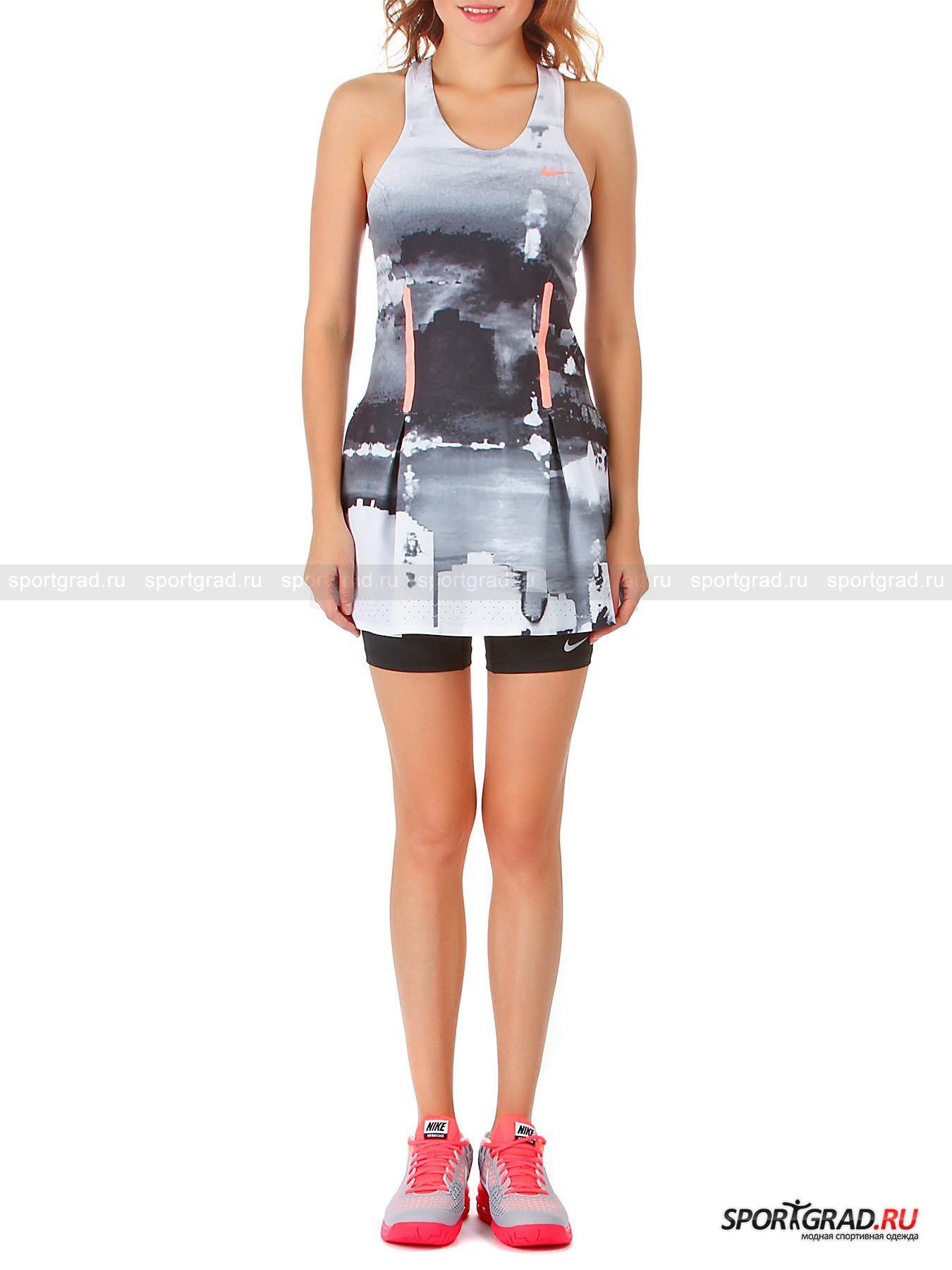 Платье+шорты женские PREMIER MARIA PRINT DRESS NIKE