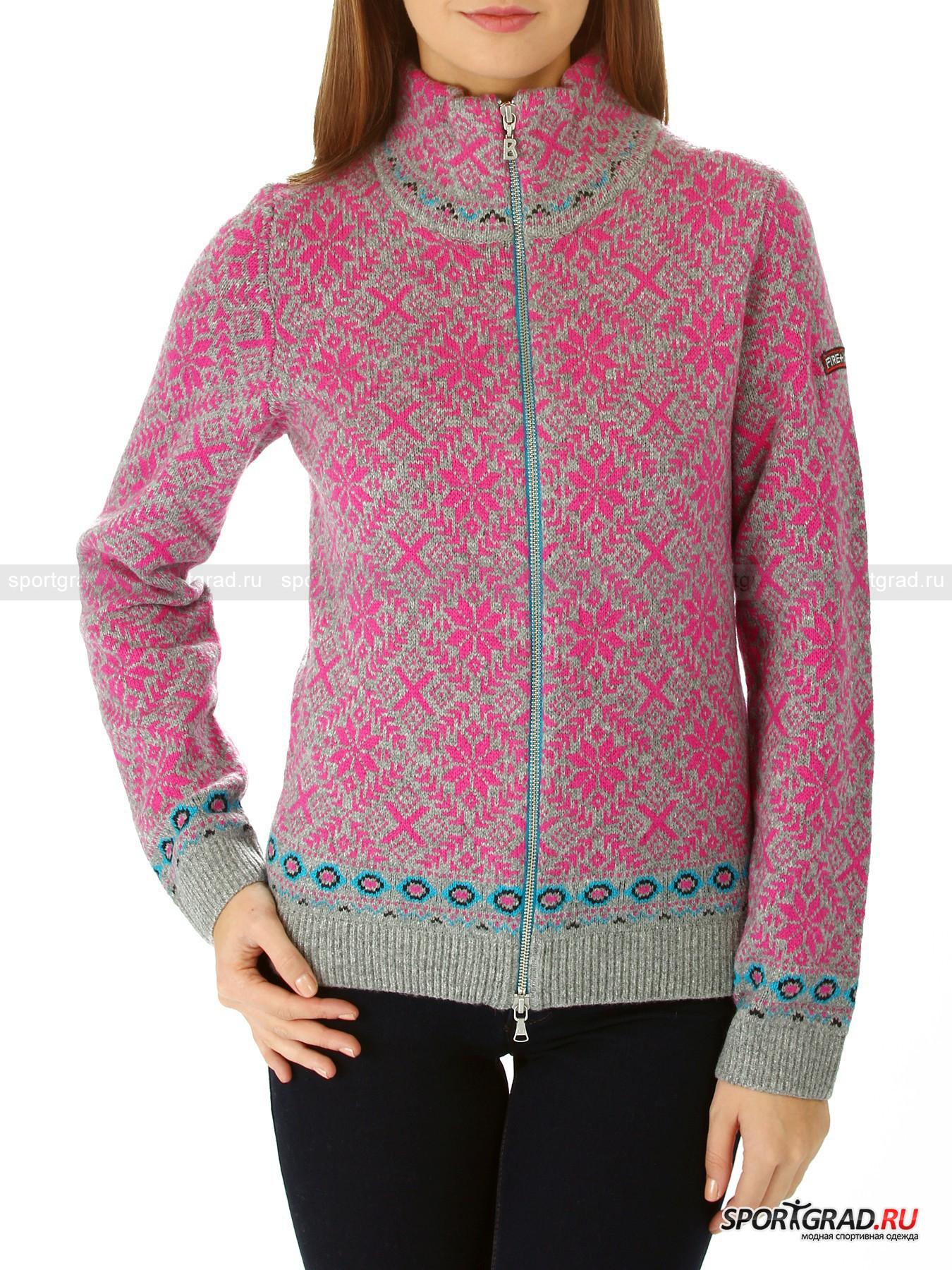 Кардиган женcкий Wendy BOGNER Fire+IceДжемперы, Свитеры, Пуловеры<br>Кардиган женcкий Wendy BOGNER – то, что нужно для холодной зимней стужи: стильный разноцветный норвежский узор, теплая и мягкая натуральная шерсть, которая отлично согревает, но при этом позволяет коже «дышать». Прямой покрой модели и эластичность вязаного трикотажа гарантируют Вам комфортные ощущения и свободу при движении, так что можно смело прокатиться с детьми с горки на санках  или устроить веселую прогулку по заснеженному лесу.  <br><br>Кардиган  имеет металлическую застежку-молнию с двумя бегунками и высокий ворот, цвет внутренней части которого совпадает с одним из цветов принта и имеет ярко-голубой оттенок. <br>                                                                                                                                                                                                                                                                                                                                                 <br> Длина изделия сзади по центру от горловины до низа 56 см, ширина в груди 44 см, длина рукава по нижнему шву 49 см (размер 36).<br><br>Пол: Женский<br>Возраст: Взрослый<br>Тип: Джемперы, Свитеры, Пуловеры<br>Рекомендации по уходу: Допускается деликатная стирка изделия в прохладной воде, глажка при низкой температуре. Не рекомендуется использовать отбеливатели и отжимать в центрифуге.<br>Состав: 63% шерсть, 19% вискоза, 15 % полиамид, 3% кашемир