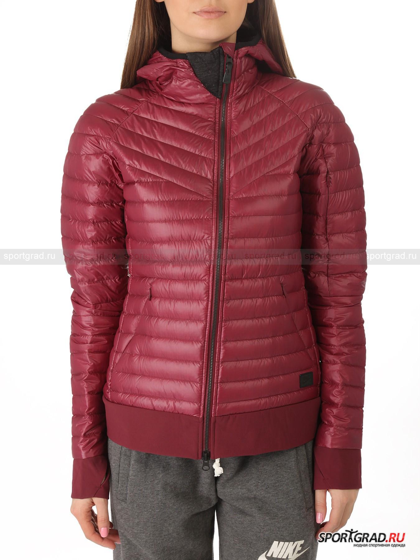 Куртка женская стеганая Echelon jacket 900 hooded NIKE на пуху