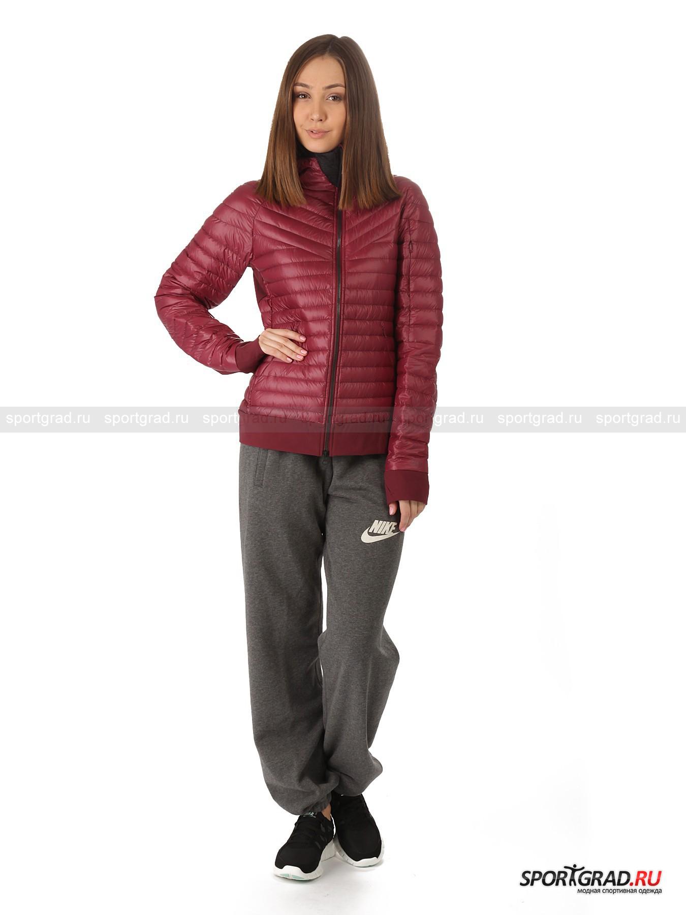 Куртка женская стеганая Echelon jacket 900 hooded NIKE на пуху от Спортград