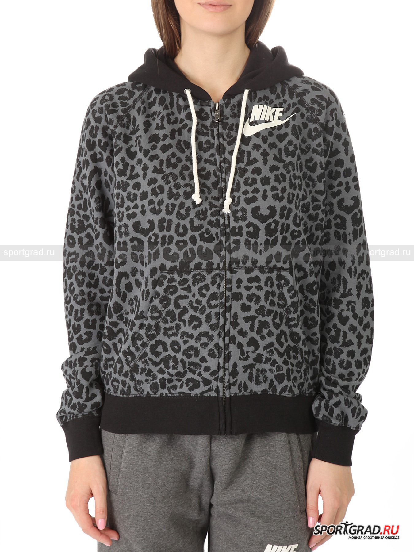 professional sale new photos official shop Толстовка женская NIKE RALLY FZ HOODY-CHEETAH NIKE с ...