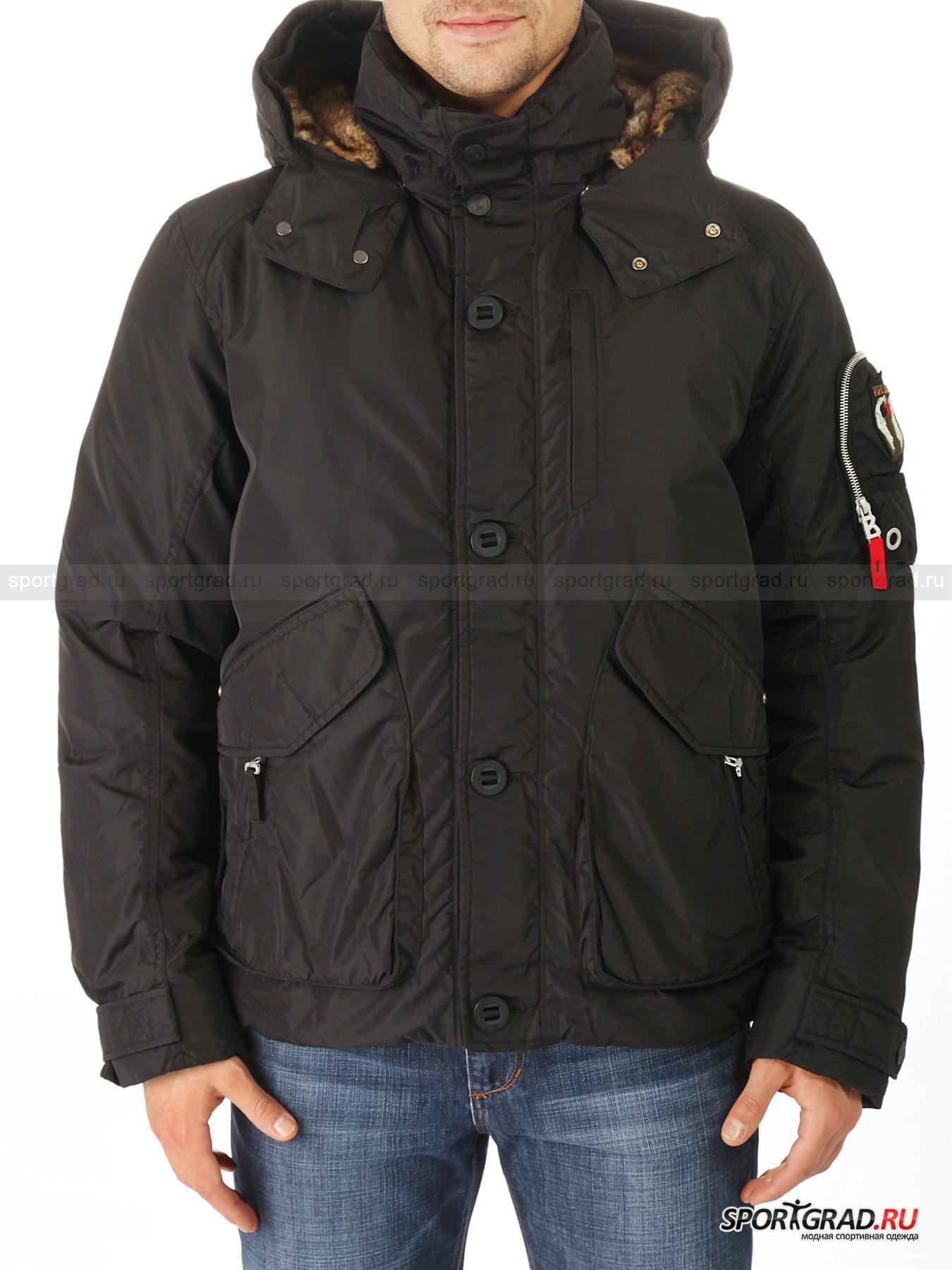 Пуховик мужской Tino-d FIRE&ICE с капюшоном на меховой подкладке от Спортград