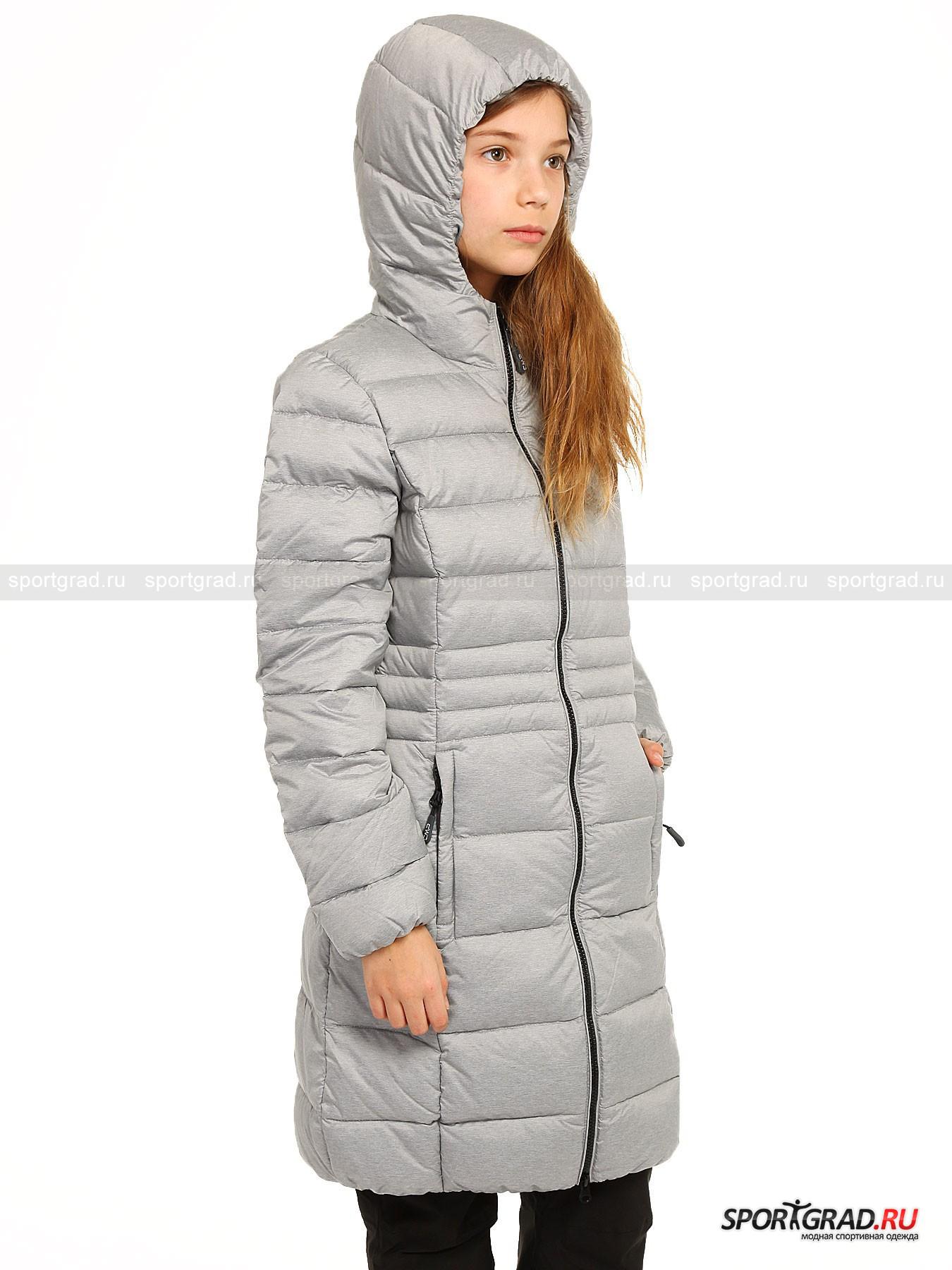 Пальто стёганое пуховое для девочек CAMPAGNOLO от Спортград