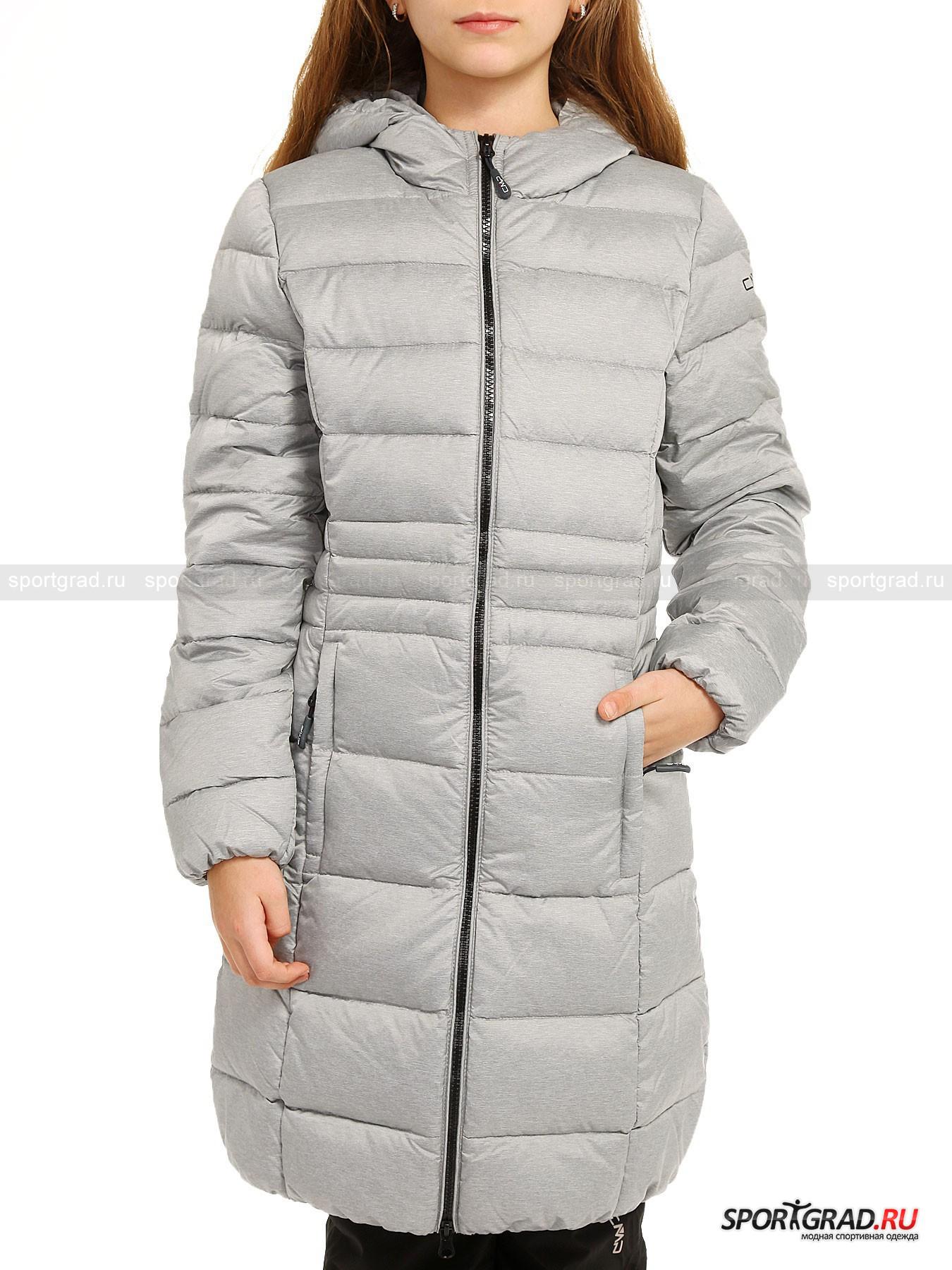Пальто стёганое пуховое для девочек CAMPAGNOLO