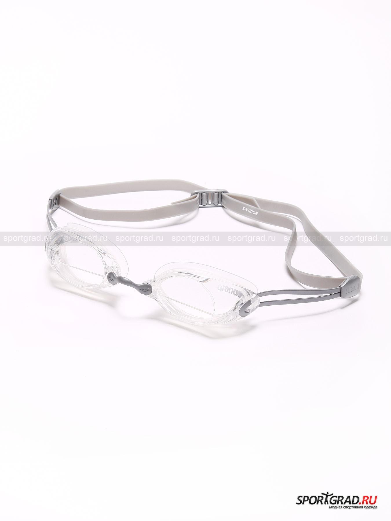 Очки X-Vision ARENAОчки<br>Гидродинамичные очки подойдут как для выступления на соревнованиях, так и для регулярных тренировок в бассейне. Очки имеют панорамные линзы с расширенным фронтальным обзором и системой Anti-Fog, предотвращающей запотевание. Также модель снабжена сменными дужками разных размеров, удобной системой фиксации и 100% защитой от УФ лучей. Плавательные очки Arena из линейки Racing Series порадуют Вас своим стильным дизайном и высоким качеством.<br><br>Возраст: Взрослый<br>Тип: Очки<br>Рекомендации по уходу: После каждого использования споласкивать пресной водой, сушить в стороне от батарей и солнечных лучей, регулярно восстанавливать антизапотевающий слой специальным спреем анти-фог.<br>Состав: Линзы - поликарбонат, уплотнитель и ремешок - силикон.